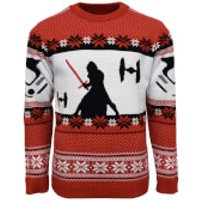 Star Wars Kylo Ren Knitted Christmas Jumper - L