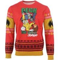 Batman Deck The Halls Knitted Christmas Jumper - XXXXL - Knitted Gifts
