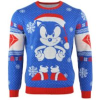 Sonic the Hedgehog Sonic Gem Knitted Christmas Jumper - XXL - Knitted Gifts