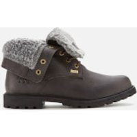 Barbour Women's Hamsterly Roll Top Waterproof Lace Up Boots - Graphite - UK 3 - Grey