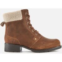Clarks Women's Orinoco Dusk Warmlined Leather Lace Up Boots - Tan - UK 8