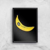 My Dad Is A Top Banana Art Print - A3 - Black Frame