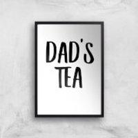Dad's Tea Art Print - A2 - White Frame