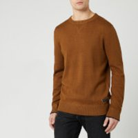Joules Men's Eskdale Knit Jumper - Burnt Caramel Marl - L - Brown