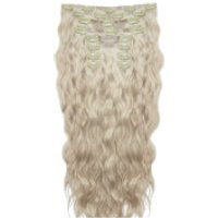 Beauty Works 22 Inch Beach Wave Double Hair Extension Set (Various Shades) - Champagne Blonde