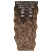 Beauty Works 22 Inch Beach Wave Double Hair Extension Set (Various Shades) - Mocha Melt