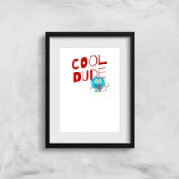 Cool Dude Skateboard Art Print - A3 - Skateboard Gifts