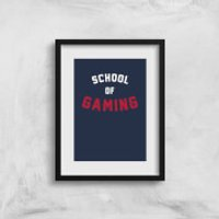 School Of Gaming Art Print - A3 - Gaming Gifts