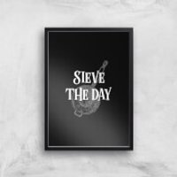 Sieve The Day Art Print - A3 - White Frame