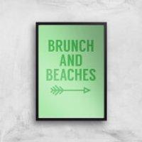 Brunch And Beaches Art Print - A3 - Black Frame