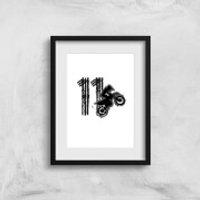 11 Motocross Art Print - A3 - Motocross Gifts