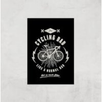 Cycling Dad Art Print - A3 - Print Only - Cycling Gifts