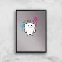 It Wasnt Me Tooth Art Print - A3 - White Frame