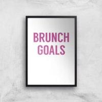 Brunch Goals Art Print - A3 - No Hanger