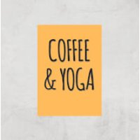 Coffee And Yoga Art Print - A4 - Print Only - Coffee Gifts