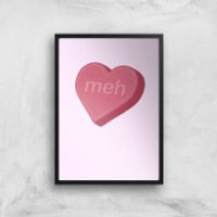 Meh Art Print - A2 - Wood Frame