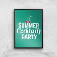 Summer Cocktails Party Art Print - A3 - No Hanger - Party Gifts