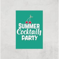Summer Cocktails Party Art Print - A3 - Print Only - Party Gifts