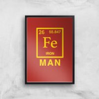 Fe Man Art Print - A2 - White Frame