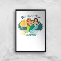 You Can't Swim With Mermaids Art Print - A3 - Black Frame