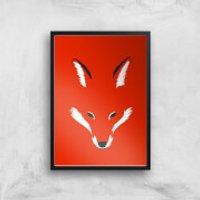 Foxy Shape Art Print - A3 - Black Frame