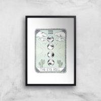 The Eyeroll Art Print - A2 - Wood Frame