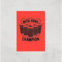Beer Pong Champion Art Print - A4 - Print Only