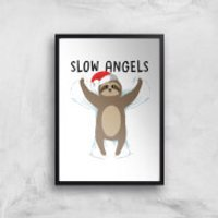 Slow Angels Art Print - A2 - White Frame