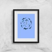 Crap Sharks Art Print - A3 - No Hanger