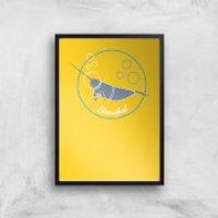 Starwhal Art Print - A4 - Black Frame