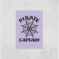 Pirate Captain Art Print - A4 - Print Only - Pirate Gifts