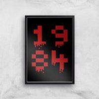 1984 Gaming Art Print - A3