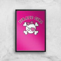 Pirate Girl Art Print - A3 - No Hanger - Pirate Gifts
