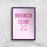 Brunch Club Art Print - A3 - Wood Hanger