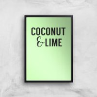 Coconut And Lime Art Print - A4 - White Frame