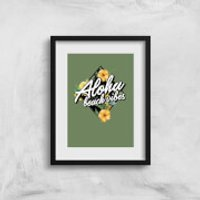Aloha Beach Vibes Art Print - A3 - No Hanger - Beach Gifts