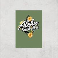 Aloha Beach Vibes Art Print - A4 - Print Only - Beach Gifts