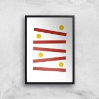 Levels Gaming Art Print - A3 - Wood Hanger