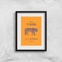 Smile Tiger Art Print - A3 - No Hanger - Tiger Gifts