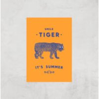 Smile Tiger Art Print - A4 - Print Only - Tiger Gifts