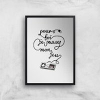 I'd Pause My Game For You (FR) Art Print - A4 - Wood Frame - Game Gifts