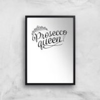 Prosecco Queen Art Print - A3 - Wood Hanger - Wood Gifts