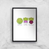 Turnip The Beet Art Print - A3 - Wood Hanger - Wood Gifts