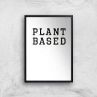 Plant Based Art Print - A3 - Wood Hanger - Wood Gifts