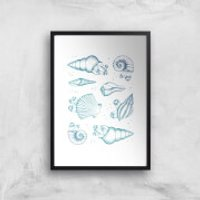Ocean Gems Art Print - A3 - Wood Hanger - Wood Gifts