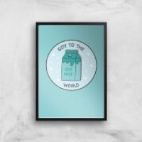 Soy To The World Art Print - A3 - Wood Hanger - Wood Gifts