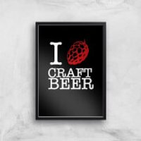 I Hop Craft Beer Art Print - A3 - Black Frame