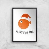 Merry Fish-Mas Art Print - A2 - No Hanger