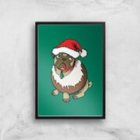 Christmas Puggin Art Print - A4