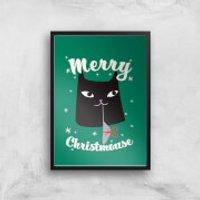 Merry Christmouse Art Print - A3 - No Hanger